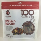 100 CALORIE SHOTS OMEGA-3 BOOSTER - Mix of dried fruits and nuts with 100 calories per 20g pouch. Stand-up pouch containing 10 servings of 20g.<br/>SIAL CHINA 2017