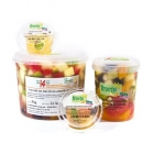 """NATURAL"" RANGE  - Preservative free fruit salad.<br/>SIAL PARIS 2014"