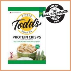 Todd's protein crisps (Evova foods Inc.)